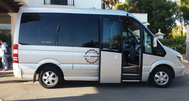 Minibus with door open