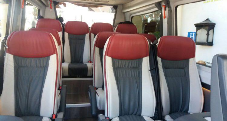 Internal shot of Minibus