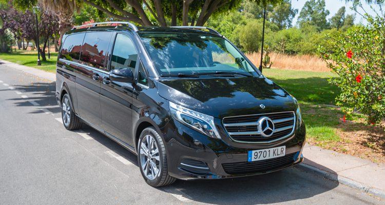 External shot of Mercedes V Class