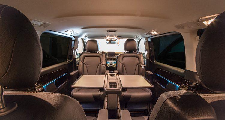 Inside of Mercedes V Class