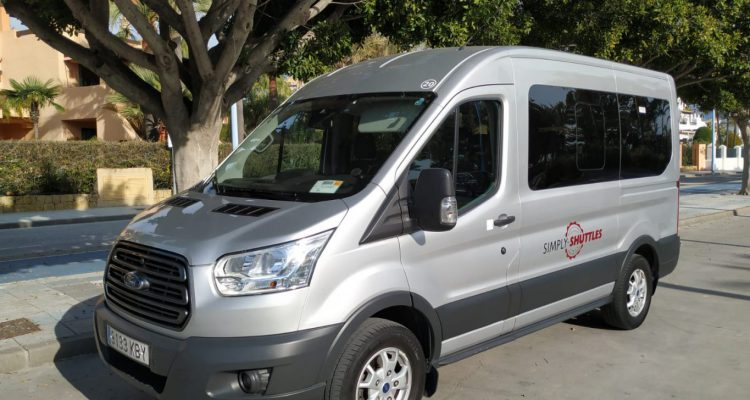 Simply Shuttles Transfer bus external