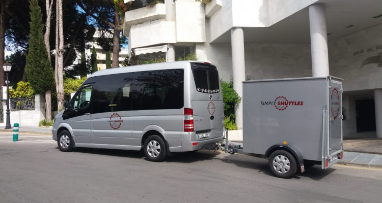 Simply shuttles Minibus and trailer